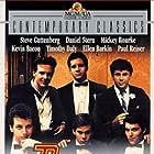 Kevin Bacon, Steve Guttenberg, Mickey Rourke, Paul Reiser, Tim Daly, and Daniel Stern in Diner (1982)