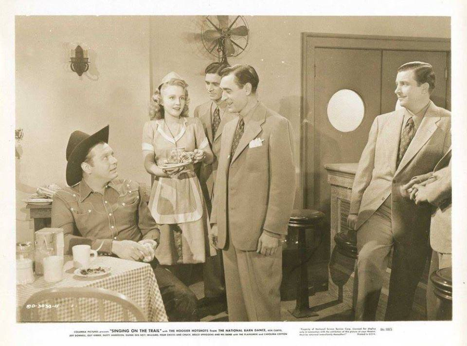 Carolina Cotton, Deuce Spriggins, Gil Taylor, Paul Trietsch, Ken Trietsch, and Charles Ward in Singing on the Trail (1946)