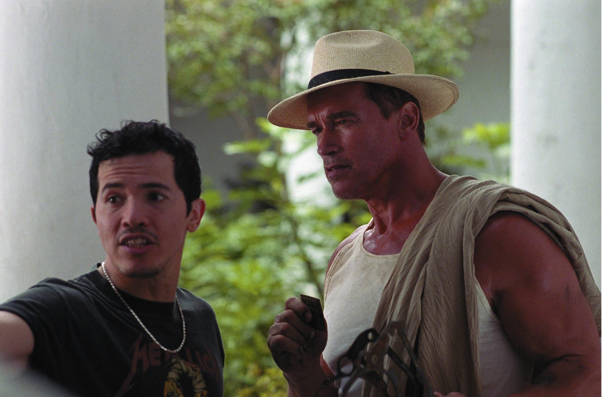 Arnold Schwarzenegger and John Leguizamo in Collateral Damage (2002)