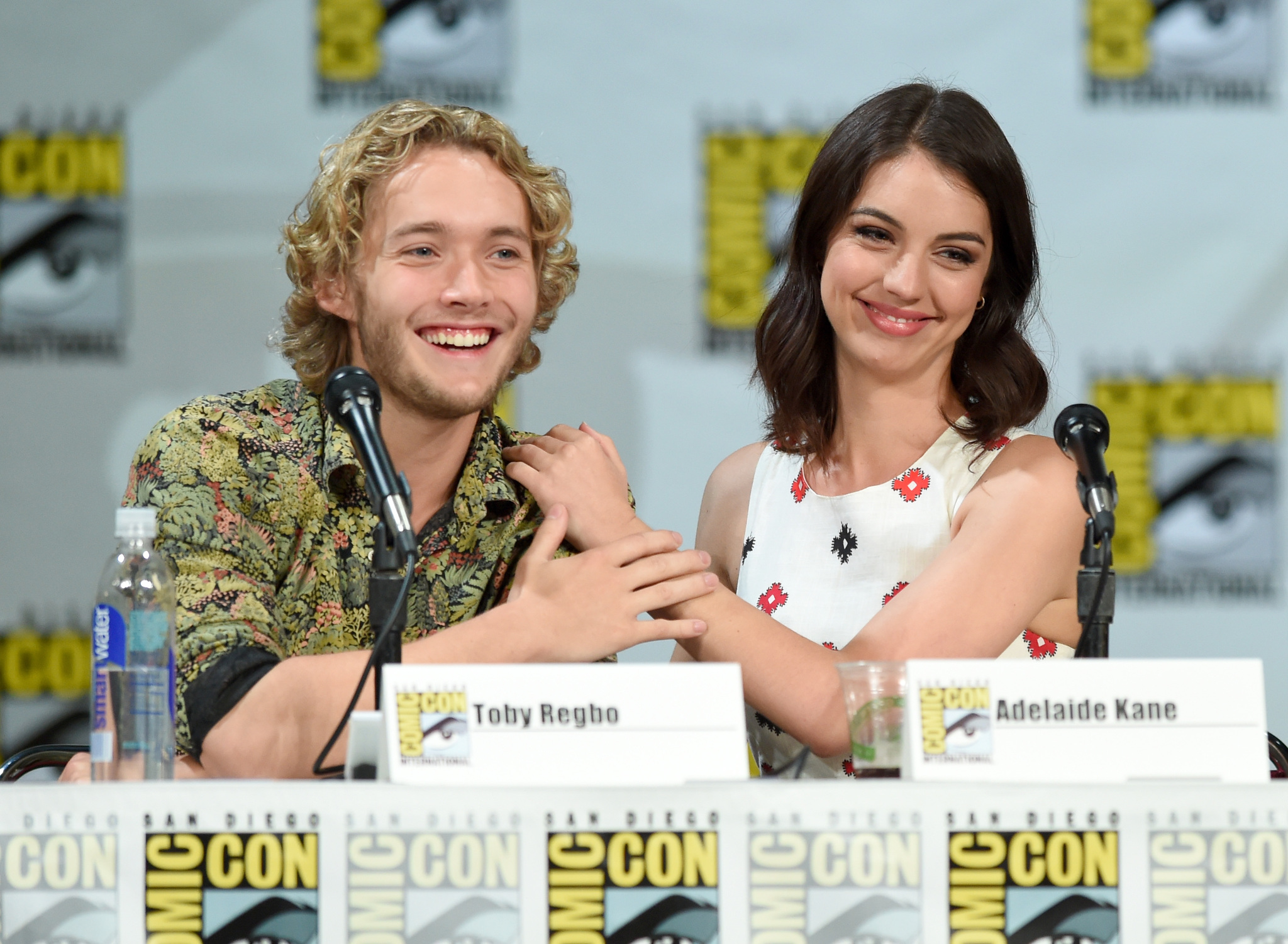 Toby Regbo and Adelaide Kane at an event for Reign (2013)