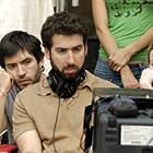 "Producer Emanuel Michael, Director Seth Grossman, and Production designer Lee Yaniv on the set of Unison Films' ""The Elephant King"""