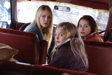Lori Heuring, Scout Taylor-Compton, and Chloë Grace Moretz in Wicked Little Things (2006)