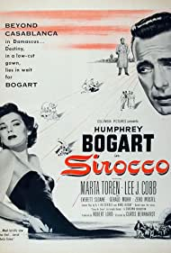 Humphrey Bogart and Märta Torén in Sirocco (1951)