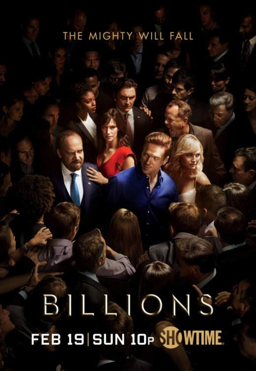 Malin Akerman, David Costabile, Paul Giamatti, Damian Lewis, Maggie Siff, Toby Leonard Moore, and Condola Rashad in Billions (2016)