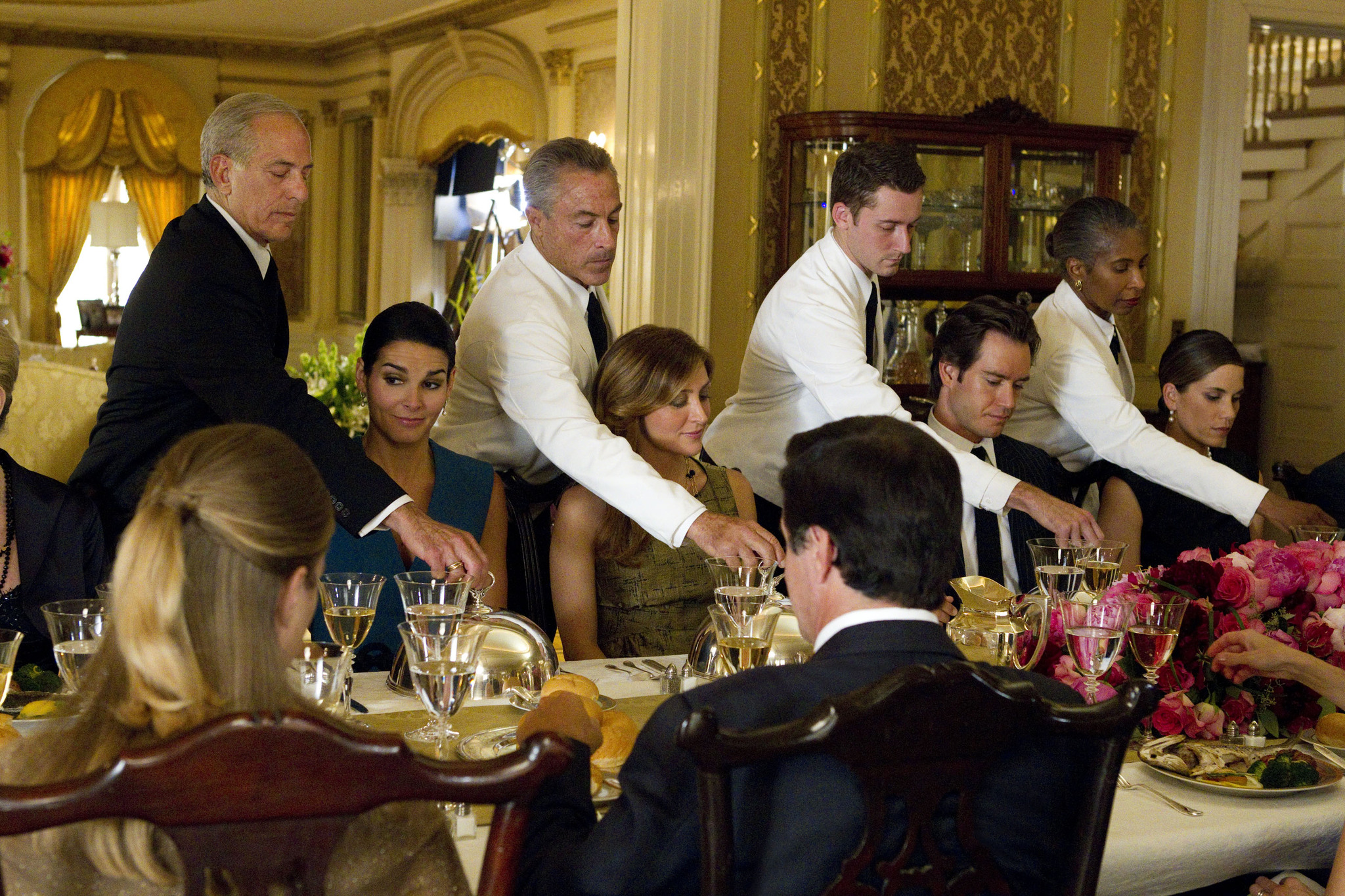 Maxine Bahns, Mark-Paul Gosselaar, Angie Harmon, and Sasha Alexander in Rizzoli & Isles (2010)