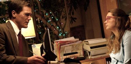 Michael Shannon as John Rosow, Merritt Wever as Mabel Page.