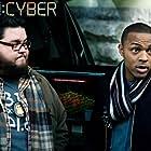 Shad Moss and Charley Koontz in CSI: Cyber (2015)