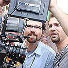 Aaron Burns and Chad Burns on the set of Beyond the Mask (2015)