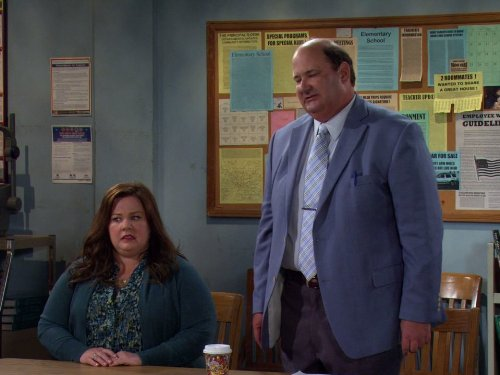 Melissa McCarthy and Brian Baumgartner in Mike & Molly (2010)
