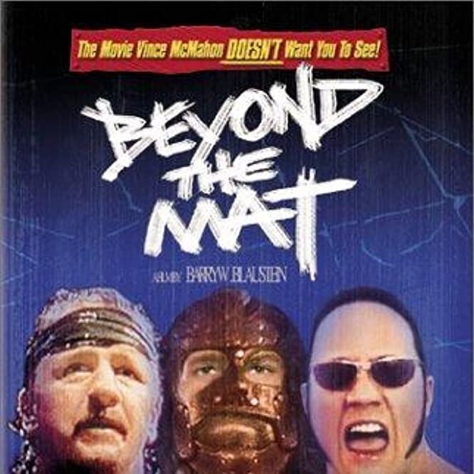 Mick Foley, Terry Funk, and Dwayne Johnson in Beyond the Mat (1999)