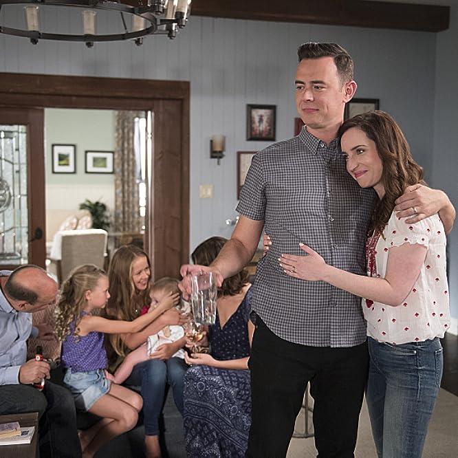 Colin Hanks, Betsy Brandt, Zoe Lister-Jones, Dan Bakkedahl, Holly J. Barrett, and Giselle Eisenberg in Life in Pieces (2015)
