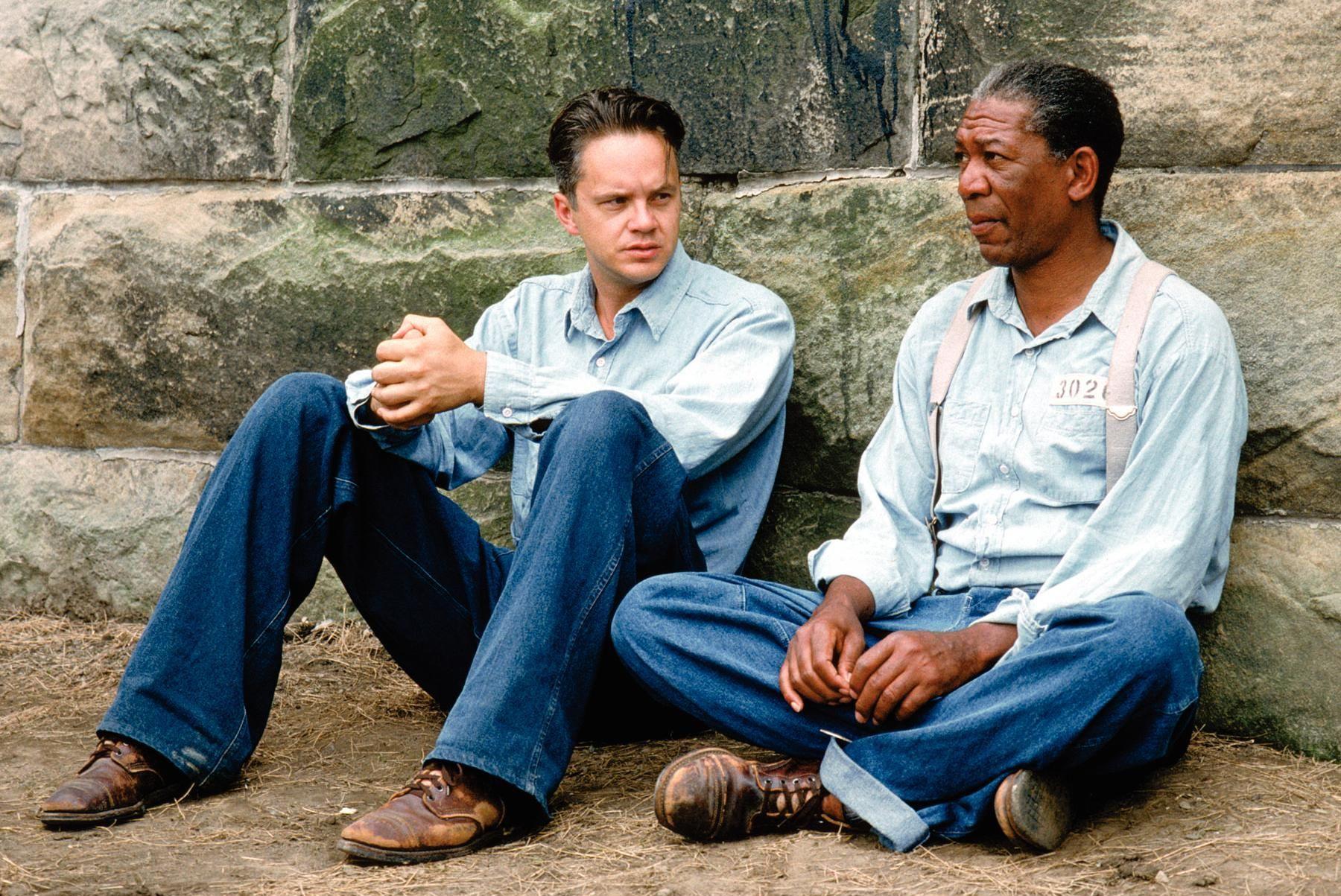 Morgan Freeman and Tim Robbins in The Shawshank Redemption (1994)