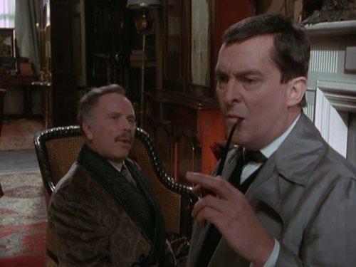 Jeremy Brett and Edward Hardwicke in The Return of Sherlock Holmes (1986)