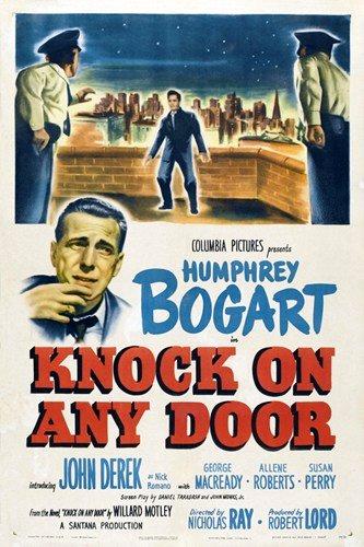 Humphrey Bogart and John Derek in Knock on Any Door (1949)