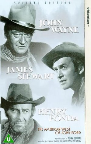 Henry Fonda, James Stewart, and John Wayne in The American West of John Ford (1971)