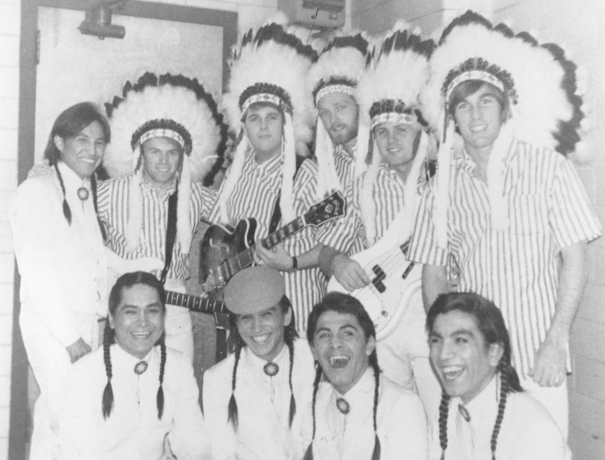 Al Jardine, Bruce Johnston, Mike Love, Carl Wilson, Dennis Wilson, and The Beach Boys in The Beach Boys: An American Band (1985)