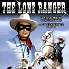 Clayton Moore, Bonita Granville, Jay Silverheels, Beverly Washburn, and Silver in The Lone Ranger (1956)