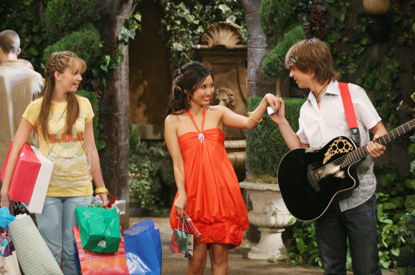 Jacopo Sarno, Brenda Song, and Debby Ryan in The Suite Life on Deck (2008)