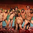 Jason 'Wee Man' Acuña, Dave England, Johnny Knoxville, Bam Margera, Ehren McGhehey, Chris Pontius, Steve-O, and Preston Lacy in Jackass 2.5 (2007)
