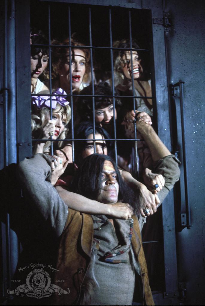 Kay Lenz, Oliver Reed, Erika Carlsson, C.C. Charity, Luz María Peña, Phaedra, Letícia Robles, and Ana Verdugo in The Great Scout & Cathouse Thursday (1976)