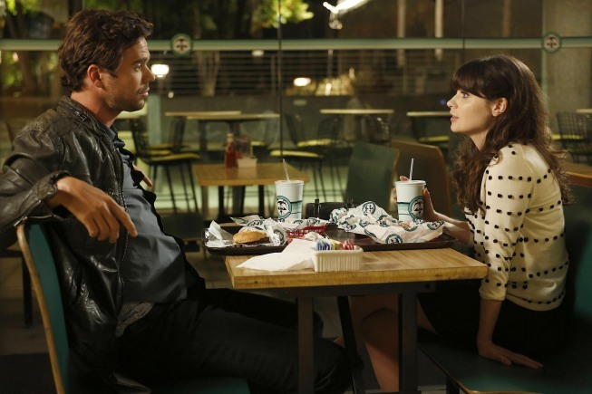Zooey Deschanel and David Walton in New Girl (2011)