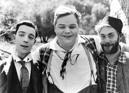 Fatty Arbuckle and Buster Keaton c. 1917