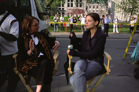 (Left to right) Lynda Obst and Katie Holmes
