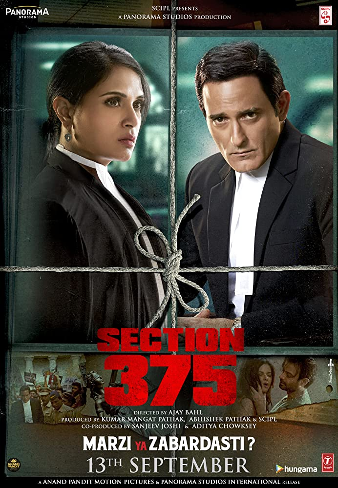 Section 375 2019 Hindi Movie 350MB Pre-DVDRip 480p