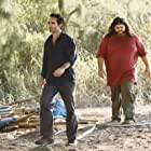 Nestor Carbonell and Jorge Garcia in Lost (2004)