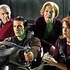 Antonio Banderas, Carla Gugino, Ricardo Montalban, and Holland Taylor in Spy Kids 2: Island of Lost Dreams (2002)