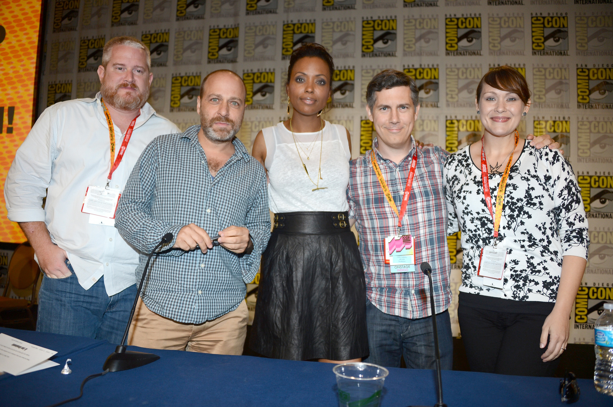 H. Jon Benjamin, Chris Parnell, Aisha Tyler, Adam Reed, and Amber Nash at an event for Archer (2009)