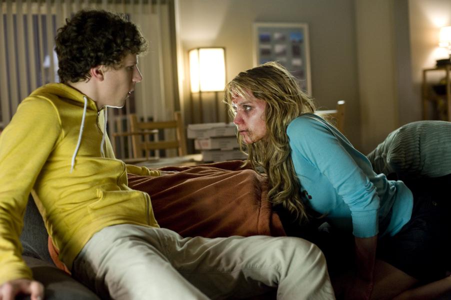 Jesse Eisenberg and Amber Heard in Zombieland (2009)