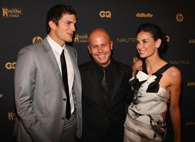Demi Moore, Ashton Kutcher, and John Varvatos