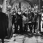 John Derek, Alan Hale, Billy House, Lester Matthews, and Donald Randolph in Rogues of Sherwood Forest (1950)
