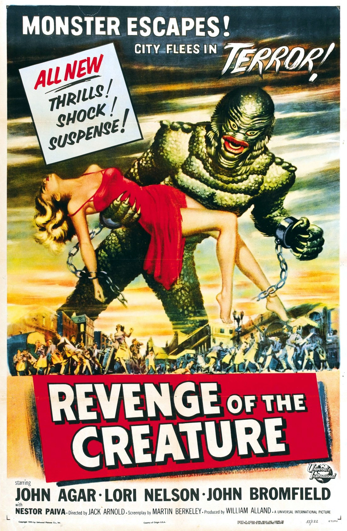 Creature From The Black Lagoon Scene Carry Poster