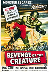 Ricou Browning and Lori Nelson in Revenge of the Creature (1955)