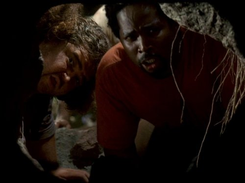 Jorge Garcia and Harold Perrineau in Lost (2004)
