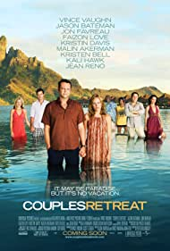 Vince Vaughn, Jason Bateman, Kristin Davis, Malin Akerman, Kristen Bell, Jon Favreau, Faizon Love, and Kali Hawk in Couples Retreat (2009)