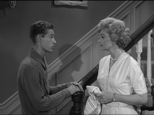 Barbara Billingsley and Ken Osmond in Leave It to Beaver (1957)