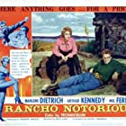 Marlene Dietrich and Arthur Kennedy in Rancho Notorious (1952)