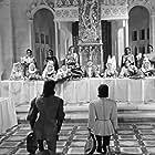 Arletty, Marie Déa, Alain Cuny, Marcel Herrand, and Fernand Ledoux in Les visiteurs du soir (1942)