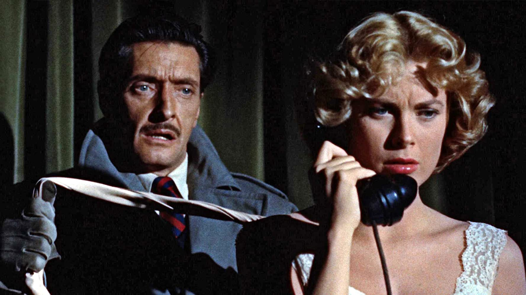 Grace Kelly and Anthony Dawson in Dial M for Murder (1954)