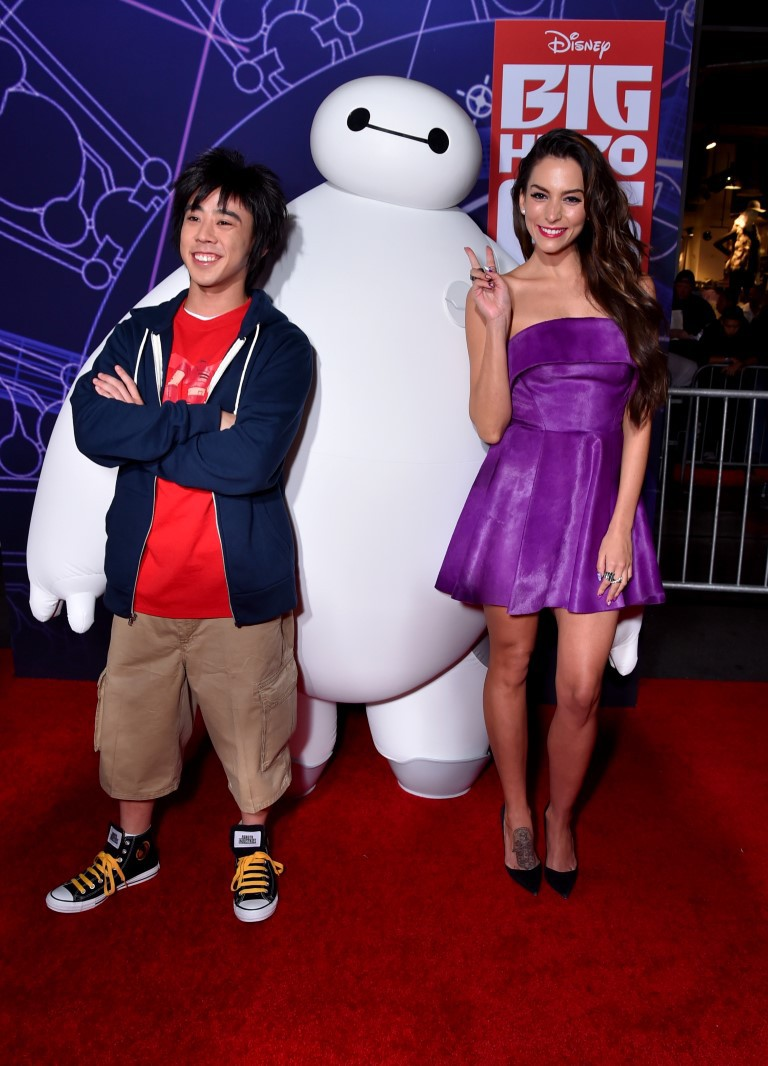 Genesis Rodriguez at an event for Big Hero 6 (2014)