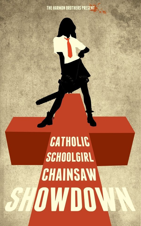 Catholic Schoolgirl Chainsaw Showdown