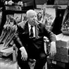 """Alfred Hitchcock on the set of """"Frenzy."""""""