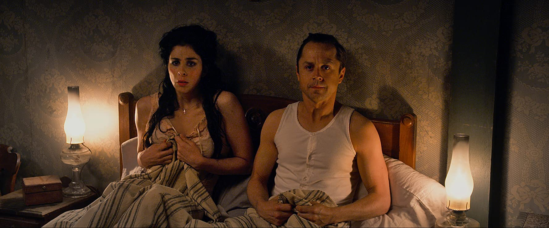 Giovanni Ribisi And Sarah Silverman In A Million Ways To Die In The West 2014