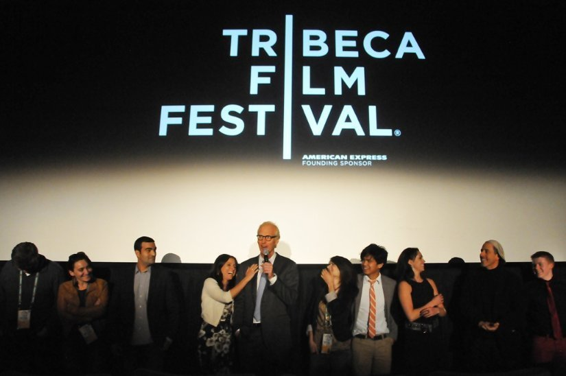 Julia Louis-Dreyfus and Brad Hall at 2012 Tribeca Film Festival