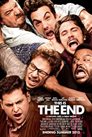 Jay Baruchel, James Franco, Craig Robinson, Seth Rogen, Danny McBride, and Jonah Hill in This Is the End (2013)