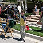 """Griffin Cleveland on the set of Hallmark's """"Seven Year Hitch."""""""