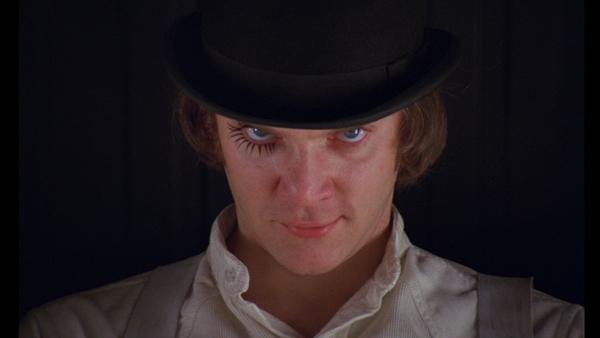 Malcolm McDowell in A Clockwork Orange (1971)